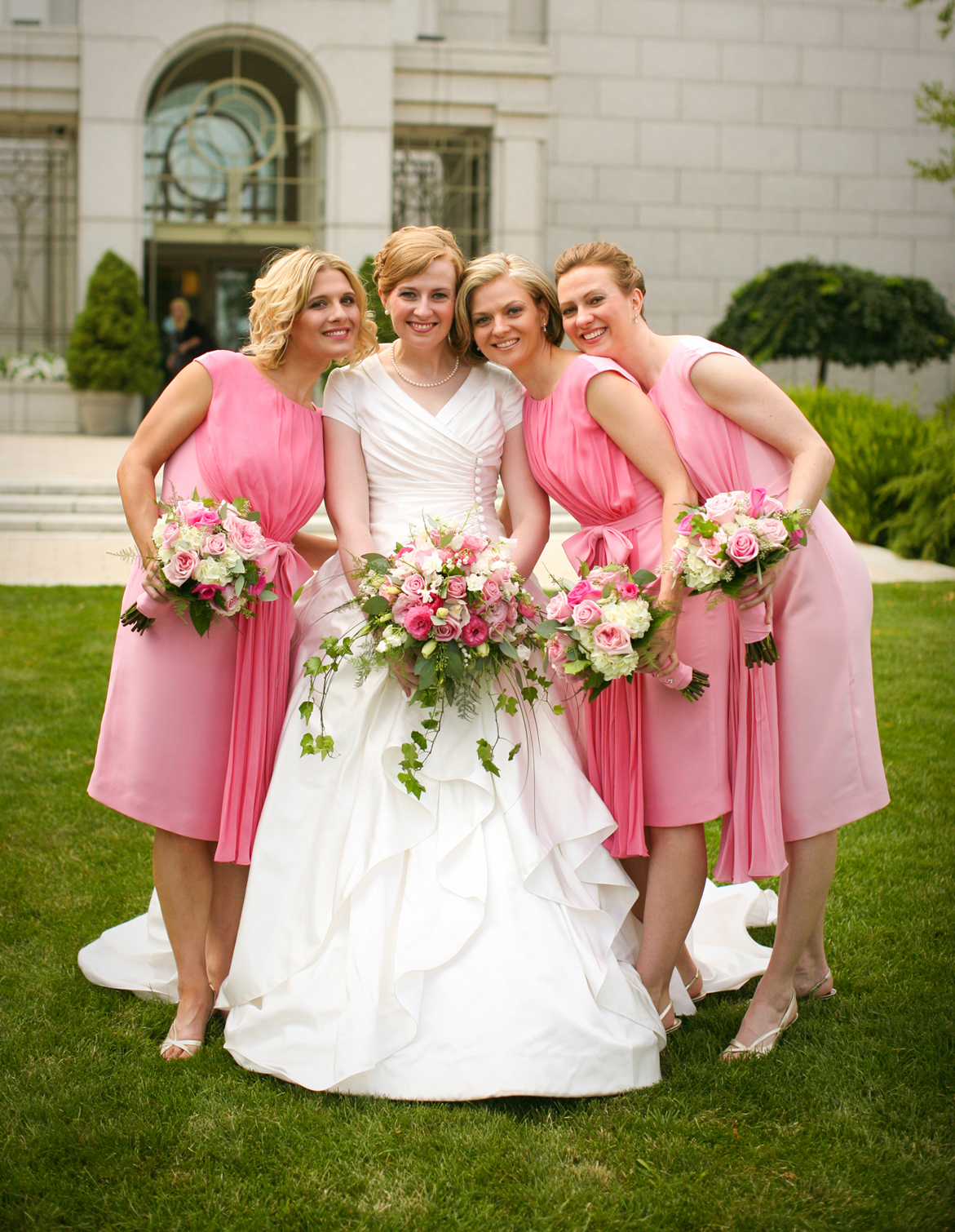 Wedding dresses for brides sister : My sister and her bridesmaids