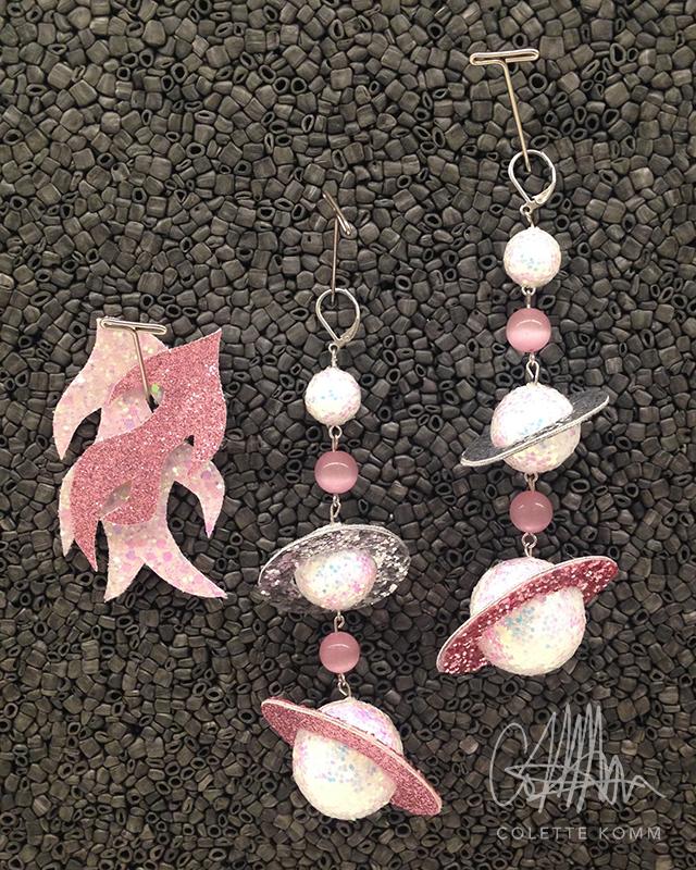 space girl earrings
